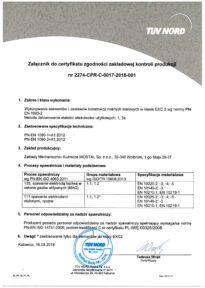 Certyfikat PN EN 1090 EXC23 WOSTAL Pl2